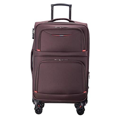 Trolley Impermeabile Trunk Bag Trunk Boardboard Imballaggio ad Alta capacità Ruota Freni Universale Password Travel Partition Unisex 3 Colori CHENGYI (Color : Brown)