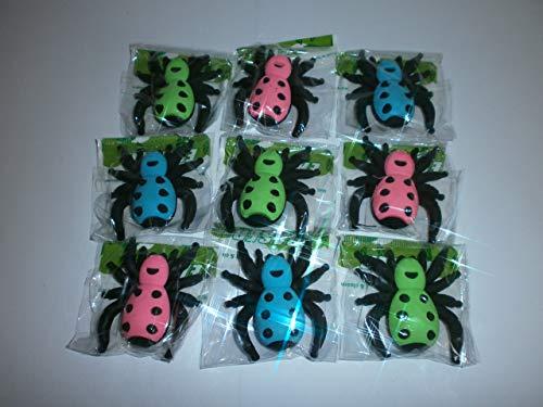 Schnooridoo 9 Radiergummi Spinne 5 x 5 cm Mitbringsel Kindergeburtstag Giveaway