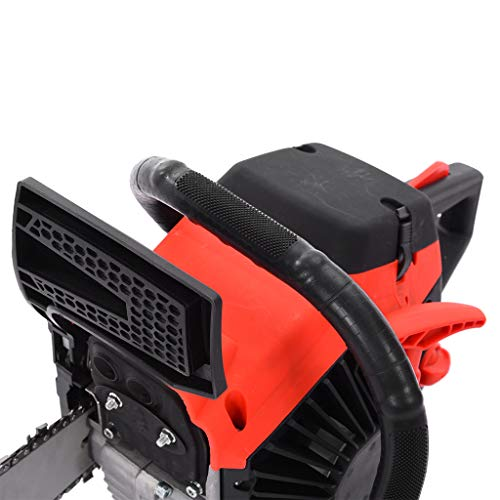 Gasoline Chainsaw 20 Inch Gas Chain 2 Strokes Automatic Chain Oiler Anti-vibration System Wood Cutting 58CC Petrol Chainsaw with Tool Kit Carry Bag for Cutting Trees Farm Garden