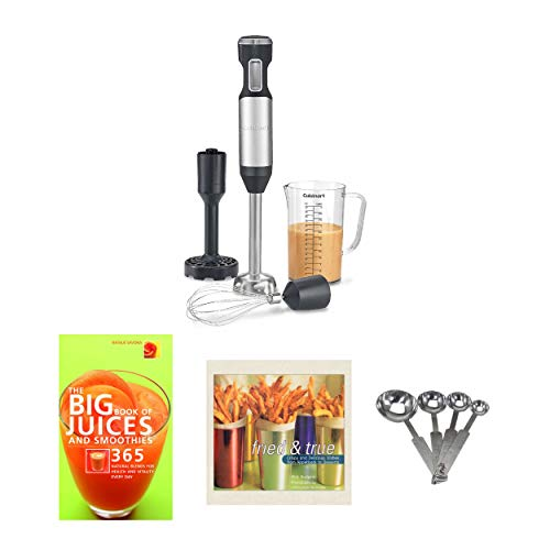 Cuisinart Hurricane Hand Blender Set with Measuring Spoon and Recipe Books Bundle (3 Items)