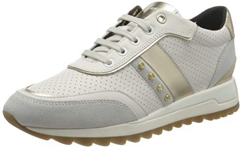 Geox D TABELYA A, Zapatillas Mujer, Color Blanco, 37 EU
