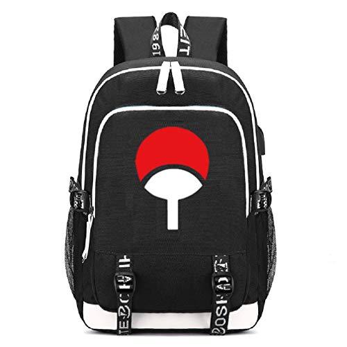YOYOSHome Japanischer Anime-Cosplay-Tagesrucksack, Büchertasche, Laptoptasche, Rucksack mit USB-Ladeanschluss (Naruto 4)