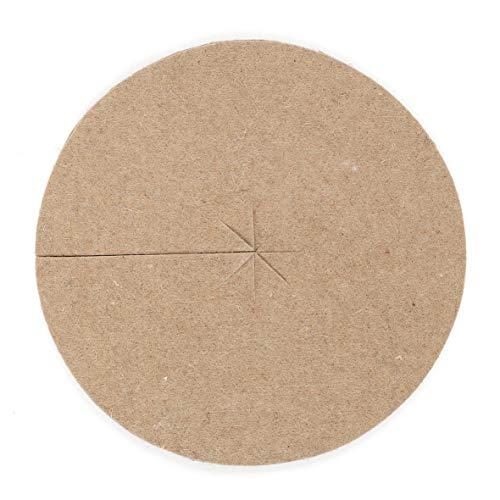 La Cordeline CJN10E Lot de 2 Disques de Paillage Feutre de Jute Diamètre 30 cm 700 grs/m²