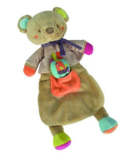 Simba 6305793591 - Nicotoy Baby Schmusetuch Bär Gary 45 cm bunt