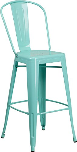 """Price comparison product image DiscountRoomDecor Premium Quality 30"""" High Mint Barstool ET-3534-30-MINT-GG"""