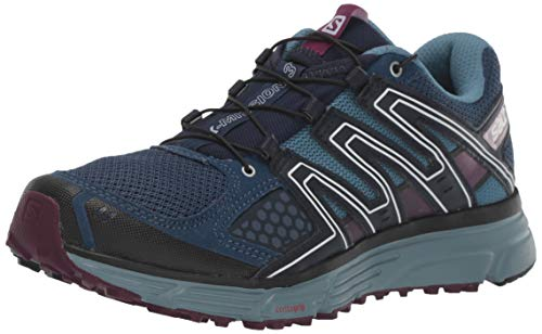 Salomon Damen X-MISSION 3 W Traillaufschuhe, Blau/Violett (Sargasso Sea/Bluestone/Dark Purple), 42 EU