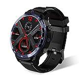 LEMFO LEM12 Smartwatch per Uomo Donna 500W + 800W Dual Camera 4G Smart Watch Riconoscimento Facciale Frequenza Cardiaca 3GB 32GB 1.6 pollici Grande Schermo Sostieni l'italiano (Black , OneSize)
