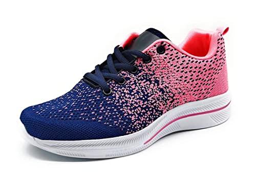 Zapatillas Deporte Mujer Muy Transpirables Deportivas Antideslizantes Bambas Ligeras Azul 36