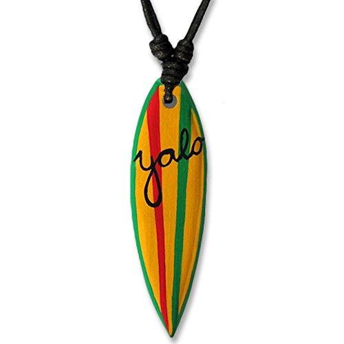 viva-adorno Cadena Tabla de Surf Colgante de Madera Banda Tablista Cadena Longitud Ajustable Varios Diseños Seleccionable HK30-14 Yolo