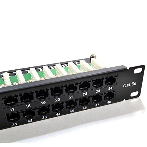 Patch Panel Rack Mount 48 Port 1U Cat5e UTP Kronen Type IDC met Markering Systeem