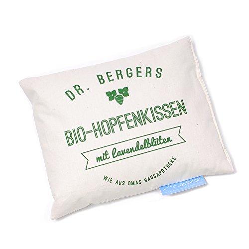 Original Dr. Berger Bio-Hopfenkissen mit Lavendelblüten Schlaf gut 25x25cm