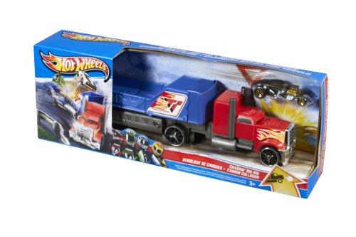 Hot Wheels - Y1870 - Véhicule Miniature - Transporteur Super Crash - Bleu et Rouge