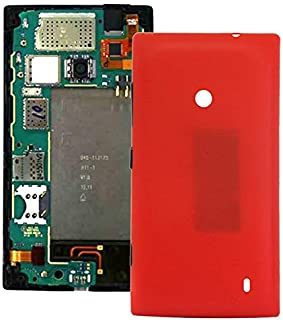 Leya for Nokia Repair Parts Plastic Back Housing Cover for Nokia Lumia 520(Black) (Color : Red)