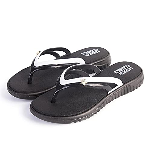 Zapatillas Casa Chanclas Sandalias Zapatos Sin Cordones para Mujer Zapatillas Antideslizantes Moda Ocio Paseo En La Playa Chanclas Interiores-Green_37