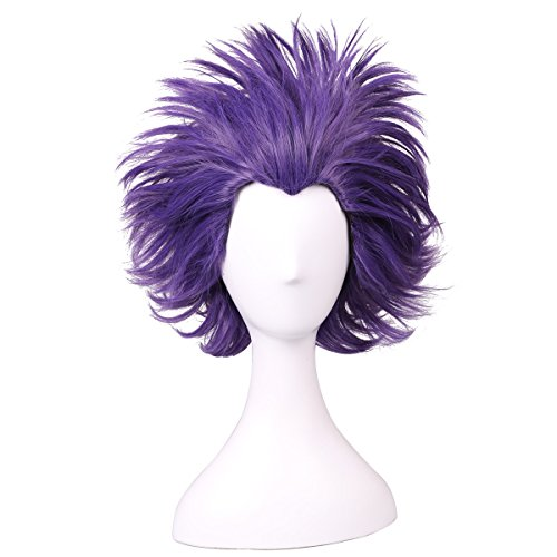 ColorGround Short Anime Cosplay Wig (Short Purple)