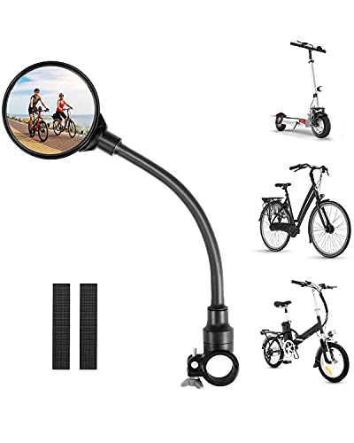 Bike Mirror Round Bicycle Rearview mirror 360° Adjustable Handlebar Mount Universal for Mountain Road bike Electric Scooter E-bike Bicycle Accessories
