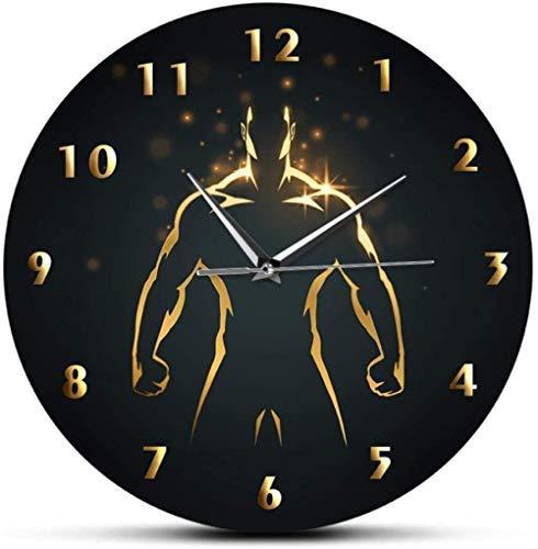 YILUXIANG Reloj de Pared Reloj de Pared Arte Regalo Decoración Moda Señora con Varios Sombreros Decorativos Silenciosos No Ticking Sombreros Tienda Señal de Pared Personalizada Nombre de Negocios