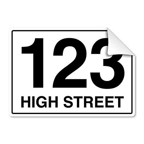 stika.co Gepersonaliseerde Bin Number Sticker met Road Street Naam voor Afvalcontainers A4 Wit Zelfklevend Vinyl