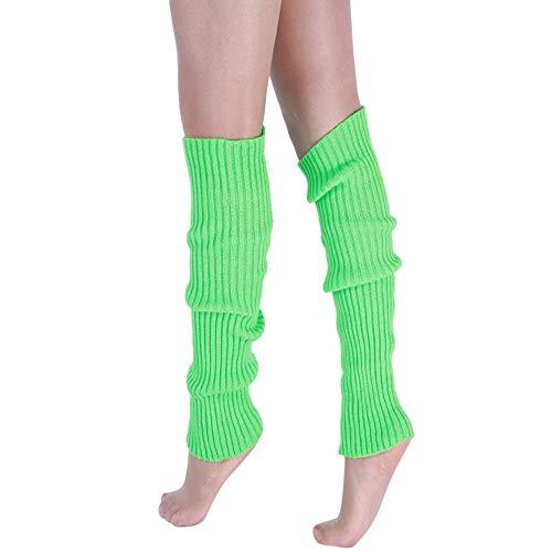 Stulpen Damen,Twist gestrickte Beinlinge Socken Boot Cover Leg Socken Teens Grobstrick Legwarmers | warme Winter Beinstulpen Wolle | (Grün)