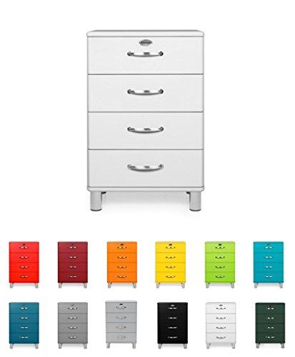 Tenzo 5116-005 Malibu - Designer Kommode 92 x 60 x 41 cm, MDF lackiert, weiß