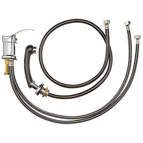 Staboos Mischbatterie und Handbrause Wasserhahn für Friseur Waschsessel oder Rückwärtswaschanlag