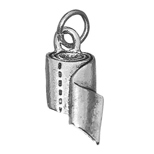 prince of diamonds Toilet Paper roll Real Genuine Sterling Silver 925 Charm Jewelry Bathroom Tissue