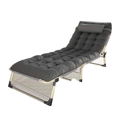Folding chair QFF@ Fauteuil Inclinable Multifonctions pour La Maison, Bureau - Tube Carré - Coton Coton Velours - 194 Cm * 75 Cm * 32 Cm