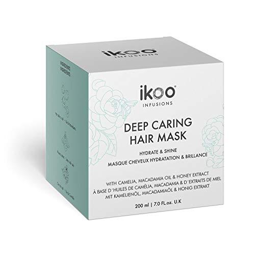 ikoo infusions Deep Caring Mask - Haarmaske Hydrate & Shine, Haarkur, Geschädigtes Haar, Trockenes Haar, Intensive Haarpflege, Haar Behandlung, Farbkraft, Feuchtigkeit, Glanz, Vegan - 200 ml