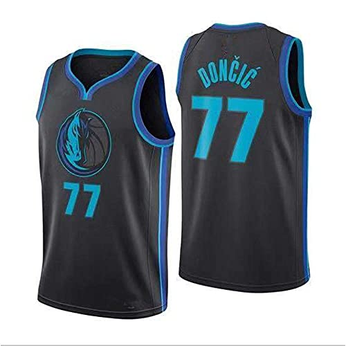 WEIZI NBA Jersey, New Season Llanero Equipo, 77 Camiseta Uniformes de Baloncesto Camisa Bordada edición de la Ciudad prensado en Caliente Jersey