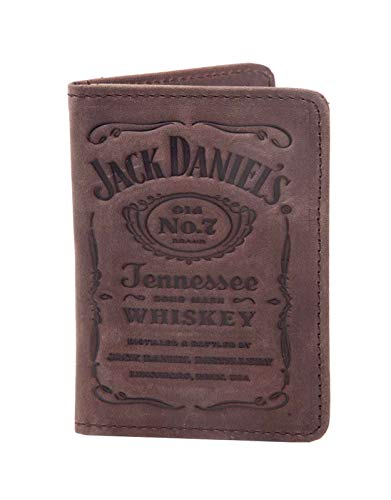 JACK DANIELS Card Brieftasche Debossed Classic Old No 7 Logo Nue offiziell Braun