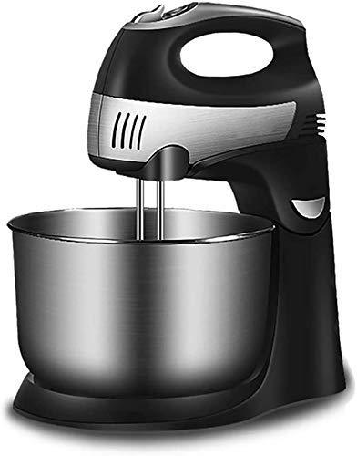 WYJW Batidora de Mano y Soporte 2 en 1, batidora eléctrica de sobremesa para Hornear, batidora automática para el hogar, batidora de Crema y Masa