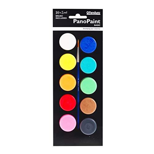 mit Pinsel Panduro PanoPaint Acrylfarbe 10 Farben zum Malen