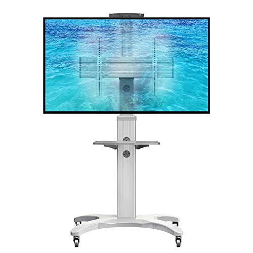 AVF1500WHT - Supporto TV da pavimento con ruote, per schermi LCD LED e TV curvi da 32' a 65' con portata max. 36,4 kg