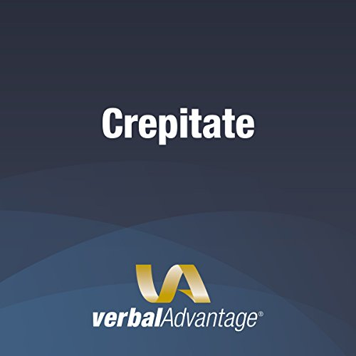 Word of the Day: Crepitate audiobook cover art