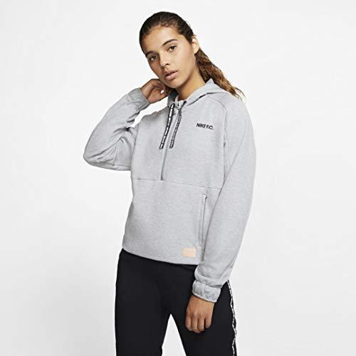 Nike Damen W Nk Fc Dry Hoodie Hz Sweatshirt, cool Grey/Htr/Black/Black, L