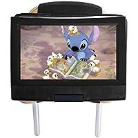Hikig Soporte de reposacabezas de Coche Universal para Reposacabezas de Coche para Portable Girar DVD Player(Caber 7 Pulgadas - 12 Pulgadas Portable Girar DVD Player)
