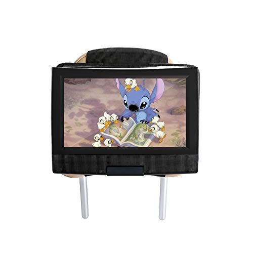 Price comparison product image Hikig Car headrest Mount for 7 to 11 inch Swivel & Flip Style Portable DVD Player - Black