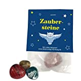 10 piedras mágicas de la suerte 'búhos mágicos' como regalo para cumpleaños infantiles, búhos, magia, bolsas de fiesta, bolsas de regalo, bolsas de regalo, piedras tamboreadas