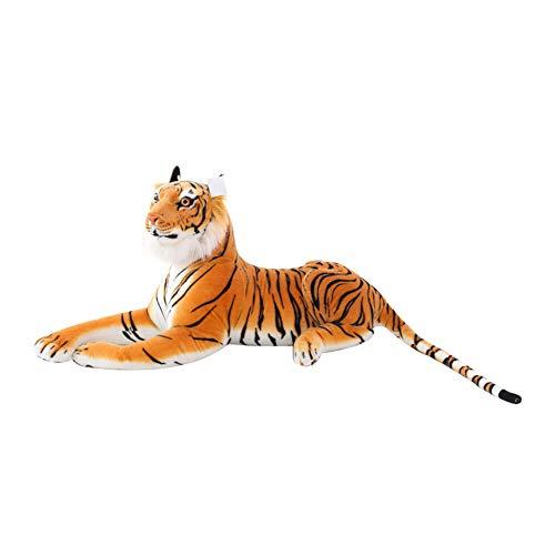 Naturgetreue Tiger Plüschspielzeug Softplüschtiere Simulation White Tiger Jaguar Kinder Kindergeburtstag Geschenke,Orange,145cm