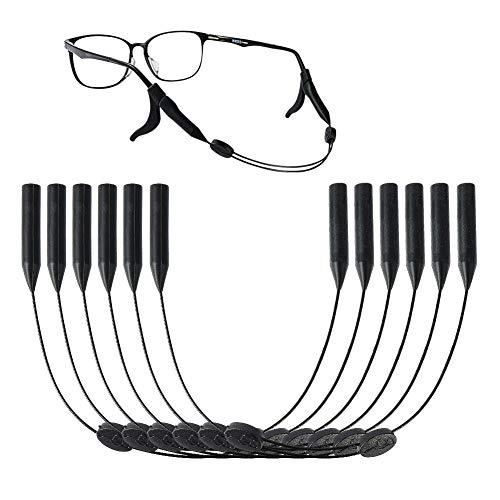 YJShop Paquete de 6 correas ajustables unisex para gafas de sol con 6 pares de ganchos elásticos antideslizantes para los oídos