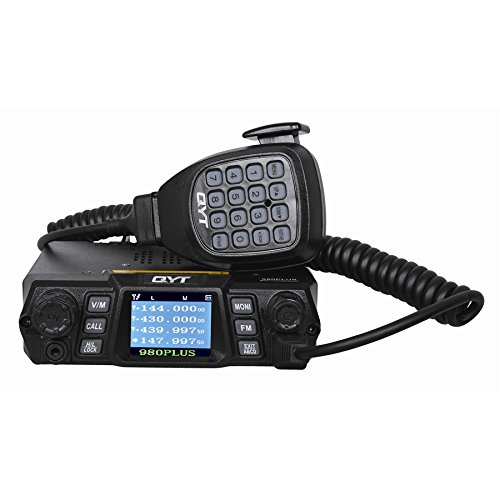 QYT KT-980 Plus Mobile Radio 75W 200CH Multiple Function VHF/UHF Dual Band Quad Band Standby FM Vehicle Transceiver Radio (Upgrade Version of KT-UV980) Dual Band Quad Band