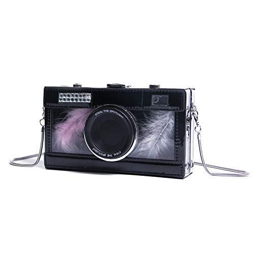 Oweisong Women Camera Shaped Shoulder Bags Unique Snapshot Design Cross Body Purses Box Phone Wallet Handbags