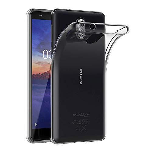 AICEK Nokia 3.1 Hülle, Transparent Silikon Schutzhülle für Nokia 3.1 Case Clear Durchsichtige TPU Bumper Nokia 3.1 Handyhülle (5,2 Zoll)