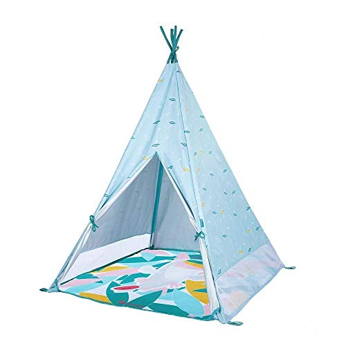 Badabulle Tipi Jungle infantil Anti-Uv FPS 50+ Colchoneta impermeable Evolutiva 100x100x120 cm - Tipi Jungle infantil Anti-Uv FPS 50+