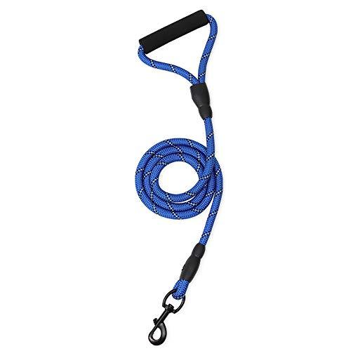 Cuerda de tracción para mascotas, cuerda de tracción para perros, cuerda redonda reflectante, cuerda para caminar, suministros para mascotas de 150 cm