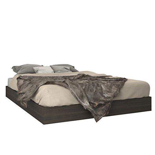 Nexera Queen Size Platform Bed, Ebony