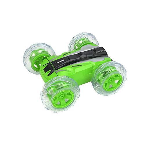 Coche de control remoto para acrobacias para niños, rotación de 360 grados, carro de acrobacias de baile de baile en las cuatro ruedas de 2.4G, conducción a doble cara con luces, música dinámica, re