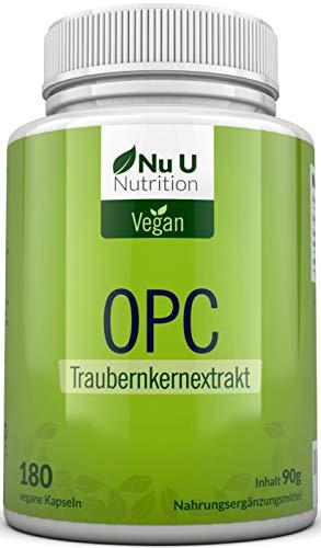 OPC Traubenkernextrakt Kapseln | 180 Kapseln reichen für 3 Monate | premium laborgetestete französische Trauben | hochdosierte 800mg pro Tagesdosis | vegan | hergestellt in Deutschland