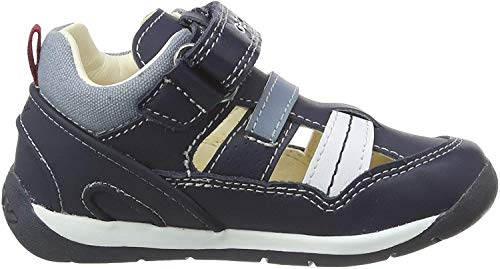 Geox B Each Boy A, Zapatillas Bebés, Azul Navy/White