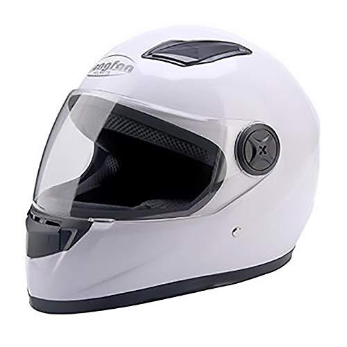Sebasty Casco de bicicleta para adultos, color blanco, para montar en coche eléctrico, para motocicleta, casco de bicicleta de montaña, equipo de equitación al aire libre